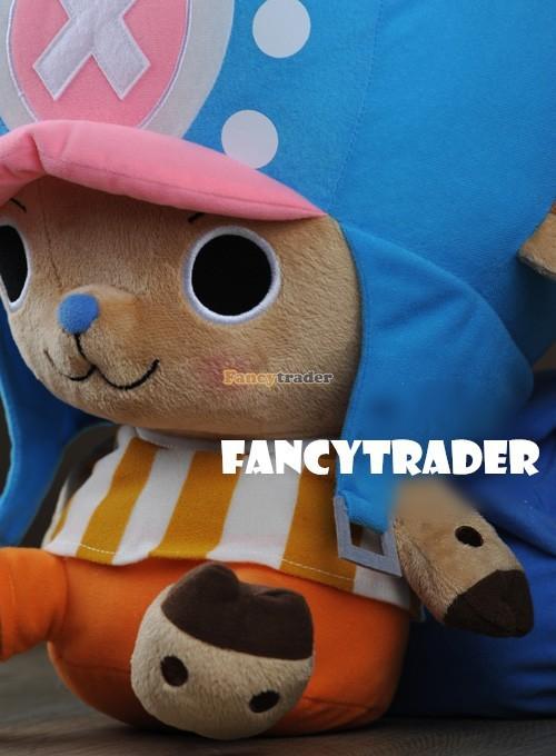 Fancytrader 16\'\' 40cm Copyrighted  Plush Stuffed Tony Tony Chopper with schoolbag & Towel FT90425 (7)