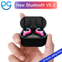 New Mini BLuetooth Earphone Port Cordless Wireless Earbuds Stereo in ear Bluetooth V5.0 Waterproof Wireless ear buds Earphone