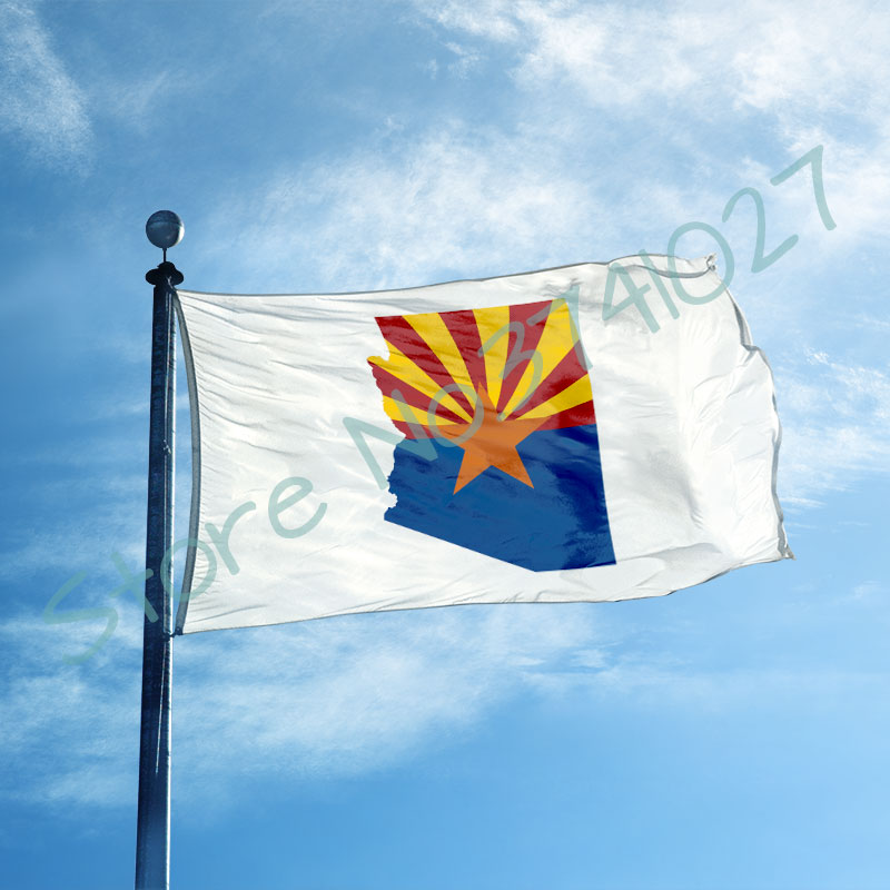 US $6.9 |Arizona state Flag 3x5 ft Flag (90x150 cm) custom Arizona state  with Arizona state map banner-in Flags, Banners & Accessories from Home &  ...