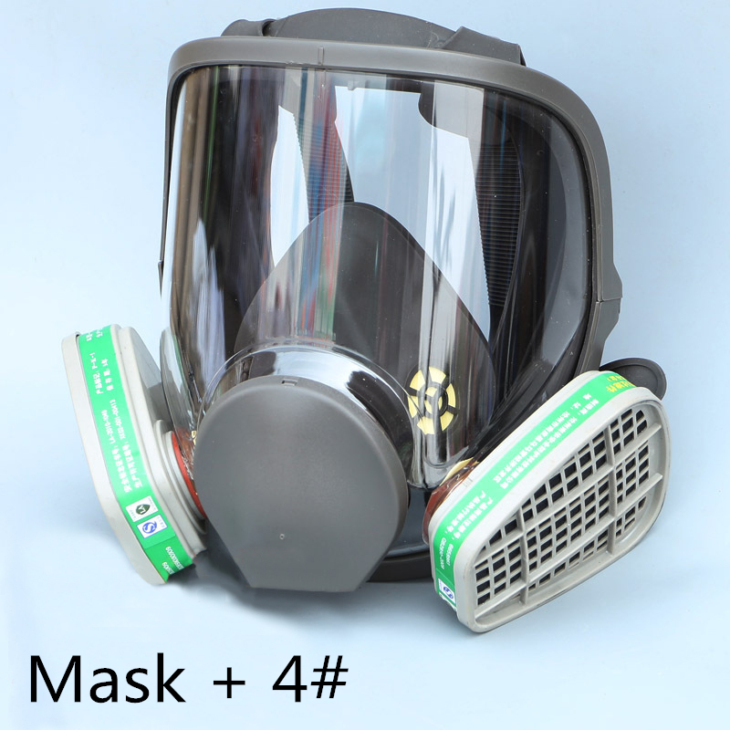 FGHGF New Arrival 6800 Gas Mask add 3# 4# Cartridge suit Full Face Facepiece Respirator For Painting Spraying 9 in 1 suit gas mask half face respirator painting spraying for 3 m 7502 n95 6001cn dust gas mask respirator