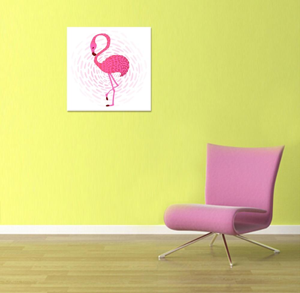 Magnificent Pink Flamingo Wall Decor Crest - Art & Wall Decor ...