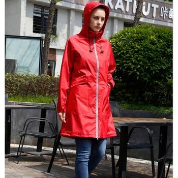 ca17f40a834 Abrigo De lluvia largo adulto senderismo hombres mujeres al aire libre  Poncho De viaje lluvia pantalones chaqueta De engranaje Capa De Chuva traje  ...