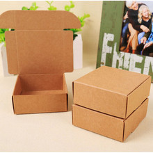 50 шт 5,8*5,8*3,2 см крафт-бумага Заказная подарочная упаковочная коробка крафт-картон посылка для упаковки мыла/конфет ручной работы