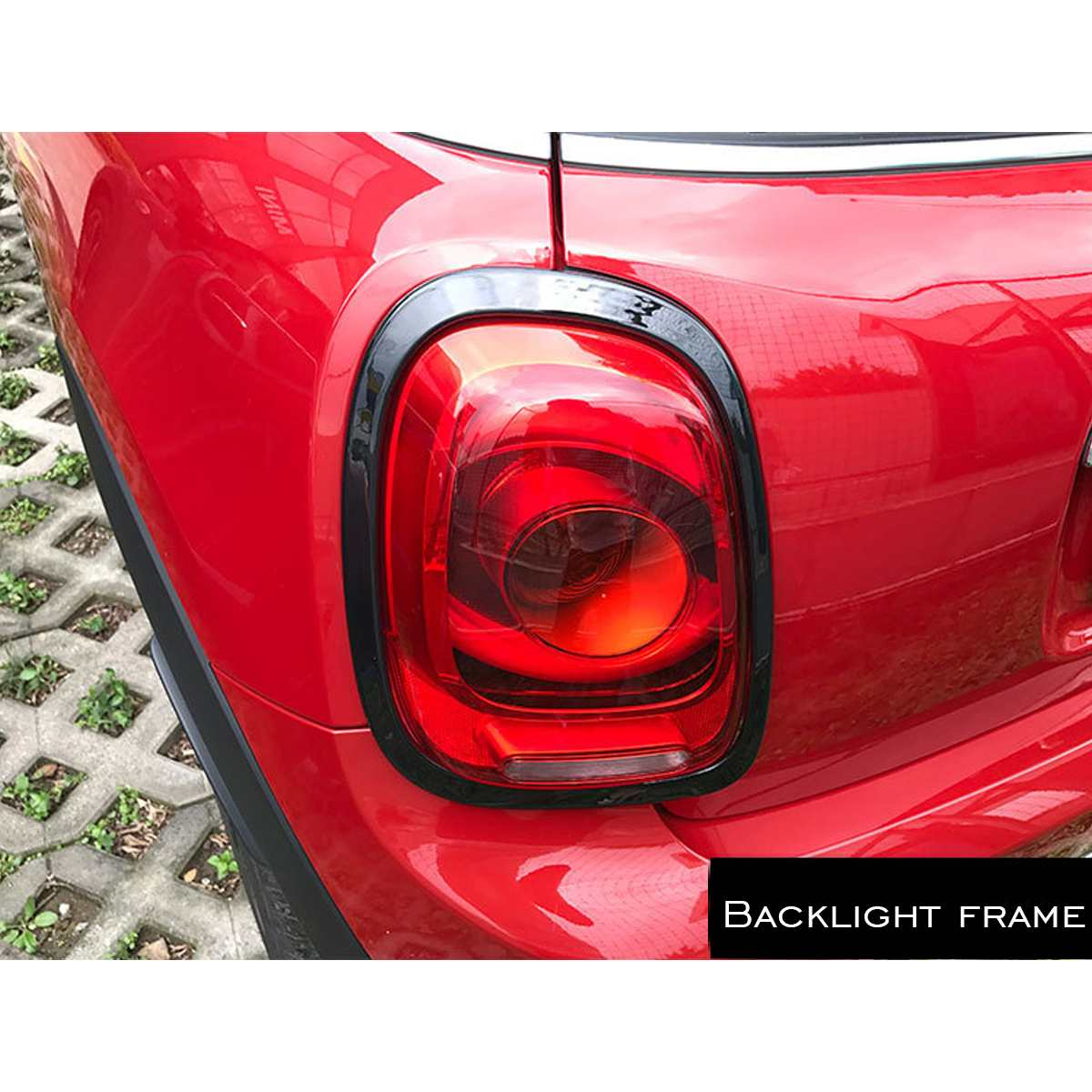 NUOVO 4 pz/set Faro Dell'automobile Testa Coda Posteriore Lampade Rim Trim Anello Coperture Per Mini Cooper One JCW F55 F56 auto Accessori per lo styling - 3