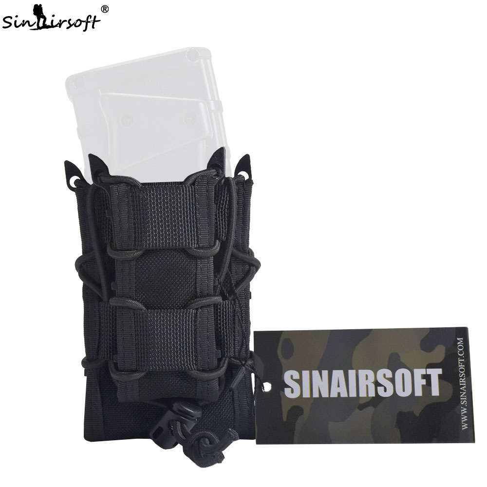 SINAIRSOFT Tactical Double Decker 1000D Nylon Mag Pouch Pistol Rifle Airsoft Molle Magazine Pouch For M4 M16 AK Glock 1911 military gear airsoft paintball rifle pistol magazine pouch tactical safariland m4 aug magazine drop leg holster