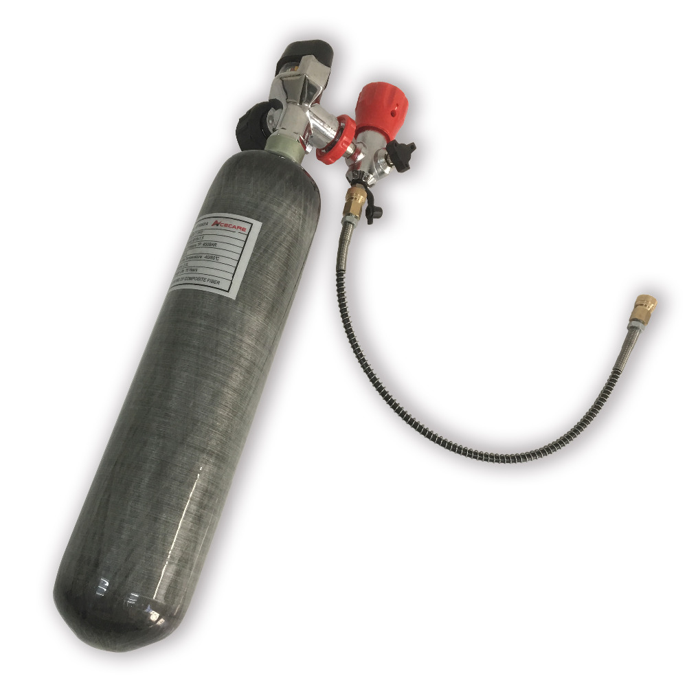 AC102201 2L 4500Psi Carbon Fiber Cylinder With Valve For PCP Air Rifle/Scuba Diving Tank/Paintball Cylinder/Compressed Air Gun