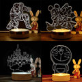 all kind of Home Decor Wood Acrylic 3D Victory sign Light Led Modern Living Table Lamp Mood Bulbing Light For Bedroom