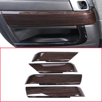 Red Ash Wood Style For Landrover Range Rover Sport RR Sport 2014 2018 ABS Plastic Interior Door Decoration Panel Cover Trim 4pcs