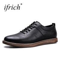 Men New Trend Dress Shoes Leather Shoes Lace Up Men S Casual Sneakers Fashion Black Khaki