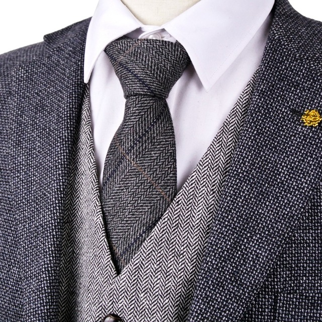 Corbata de Tweed diseño de Espiga