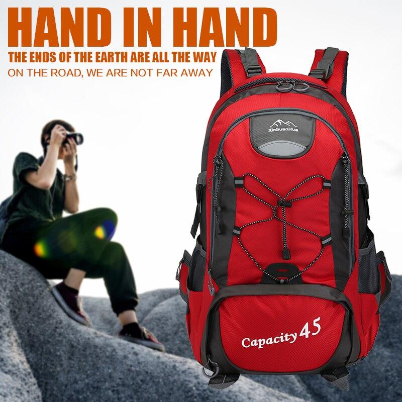 Mochila para escalar montaña ciclismo de Nylon impermeable a 4 Color Camping senderismo deportes 45L bolsa día Paquete de 15,6 pulgadas portátil