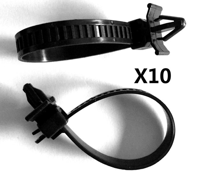 10x Push Mount Wire Ties Releasable Nylon Cable Strap For Honda ...