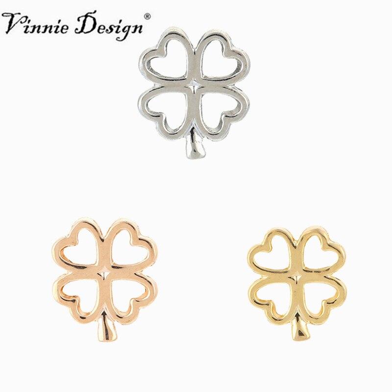 Slide Charms For Bracelets: Vinnie Design Jewelry Four Leaf Clover Slide Charms Key