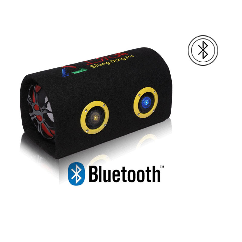 6inch Car Active Audio Bluetooth Speaker Subwoofer 12V 24V 220V Truck Motorcycle Home Computer Tunnel Speakers Box image