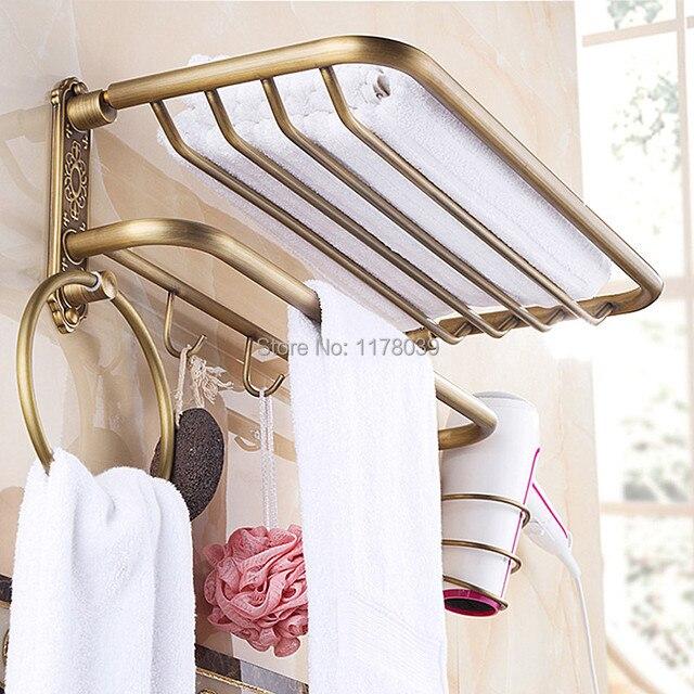 bathroom towel shelf with hooks,All copper towel shelving,wall ...