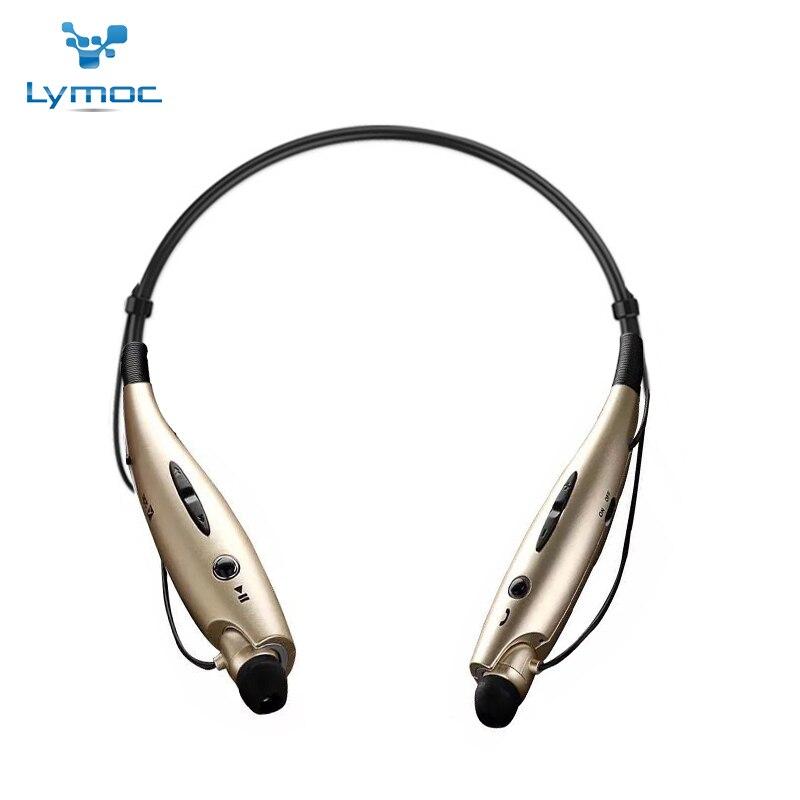 LYMOC 730 New Gold Couleur Neckband Bluetooth Casques Sport Écouteurs Sans Fil V4.0 de Course Musique Téléphone Casque Mains Libres