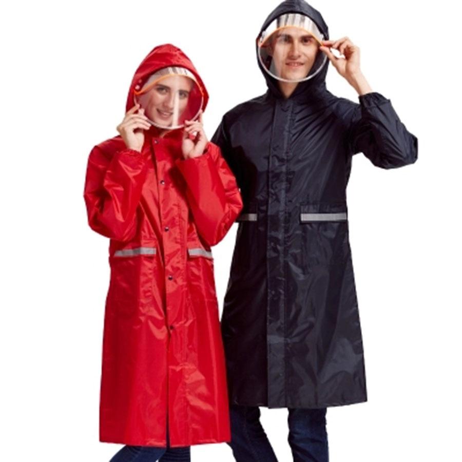 Long Suit Womens Raincoat Size Waterproof Rain Cover Motorcycle Raincoat Poncho Women Windbreaker Rainwear Regenjas Dames 6YY065