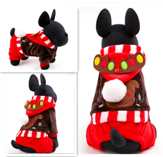 2015 New Winter Dog Pet Clothes Party Dress Christmas Style Pet dog Clothing Clothes XXS XS S M L size for small large pet dog