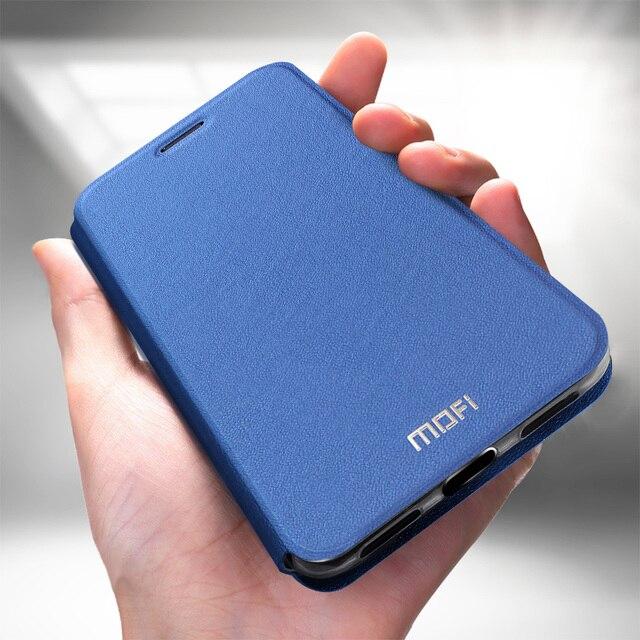 MOFi Case for Redmi Note 7 Case for Redmi Note 7 Pro Flip Case for Xiaomi Redmi Note 7 PU Leather Transparent TPU Protect Capas