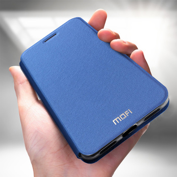 Redmi note 7 용 mofi 케이스 redmi note 7 용 pro flip 케이스 xiaomi redmi 용 note 7 pu 가죽 투명 tpu capas 보호