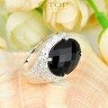 Promoções 2 pcs / 1ot do presente do feriado anel de fogo anel de ônix preto para as mulheres anel de cristal Bijoux R0183