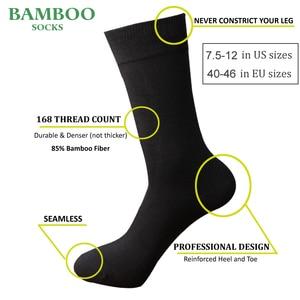 Image 2 - Match Up  Men Bamboo Grey Socks Breathable Anti Bacterial man Business Dress Socks (6 Pairs/Lot)