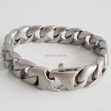 Из нержавеющая сталь ( 316 ) серебро браслет ( длина : 21 см, Ширина : 15,5 мм вес : 40 g ) ppss-045