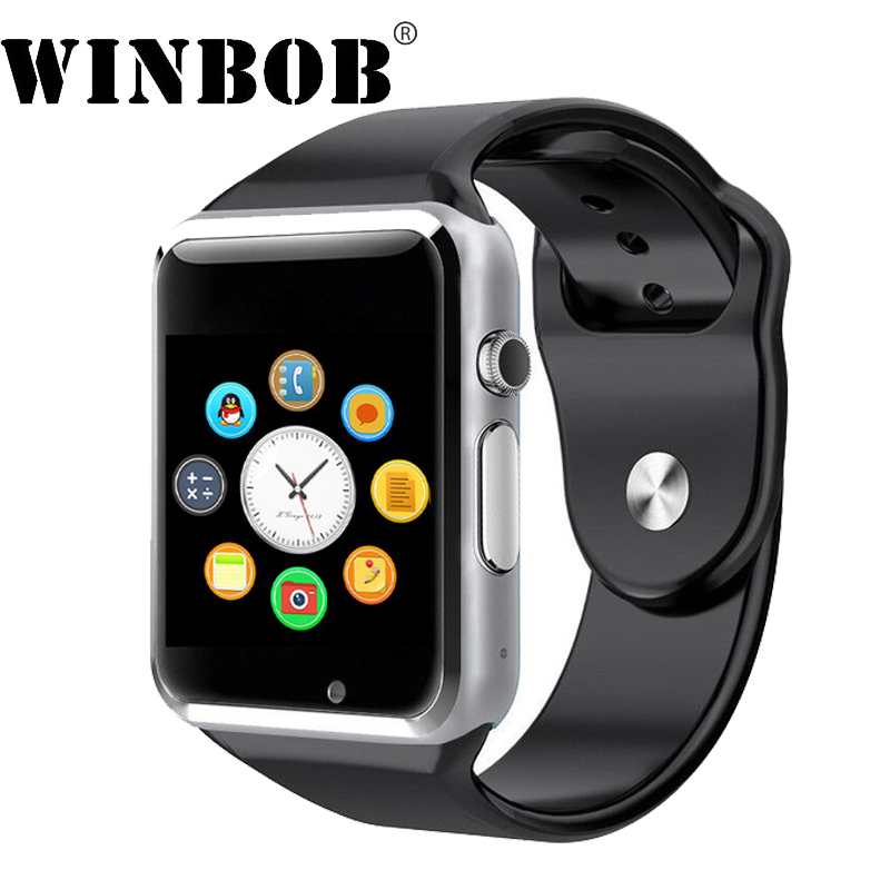 WINBOB New WristWatch Bluetooth Smart Watch Sport Pedometer with SIM Camera Smartwatch For Android A1 SmartWatch DHL Free Ship цена