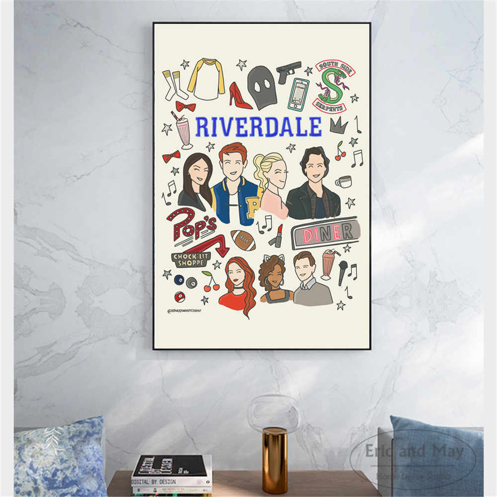 Cartoon Riverdale Quotes Posters And Prints Wall Art Canvas Painting For Living Room Decoration Home Decor Unframed Quadro