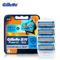 Razor shaving Blade Gillette Fusion Proshield chill shave Shaver Blades With Cool Factor For Men Beard Shaving Blades 4Pcs/Pack