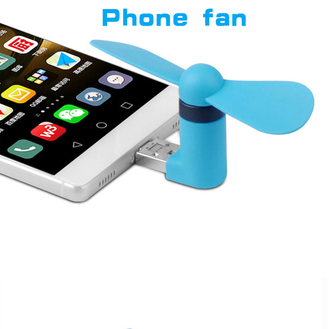 Portable Otg Micro Usb Mini Phone Fan Phone Adapter For Ios Android