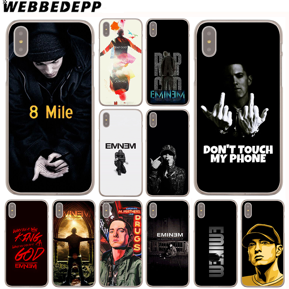 WEBBEDEPP Eminem Rap God Case For Apple IPhone 4 4S 5C 5S ...