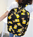 Hot Sale 2016 New Fashion Cartoon Versatile Backpacks Cartoon Women Backpack Travel Bags F192