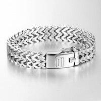 Ancient Silver Fashion Punk Bracelet For Women DIY Bangle Charms Bracelets Men Pulseira Jewelry Gift