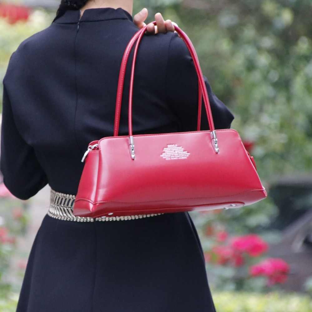 Élégant mode en cuir femmes sac \ sacs à main dames sac à bandoulière marque design rétro fourre-tout sac Long ~ qualité garantie ~ 17B7