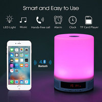 LED Portable Mini bluetooth Lamp Speakers Night Light Wireless Music Speaker With TF card USB player speaker For android ios