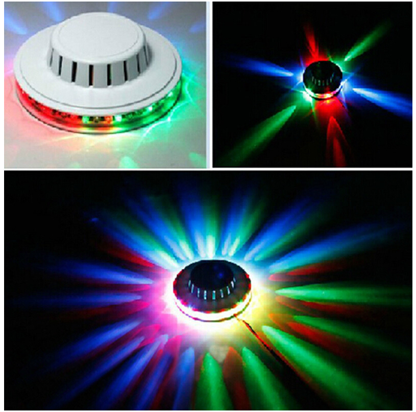 1PC Free Shipping Black/White New Popular Magic Disco DJ Stage Lighting Sunflower 48pcs 5mm LED Lamp RGB Bar Party Effect Light