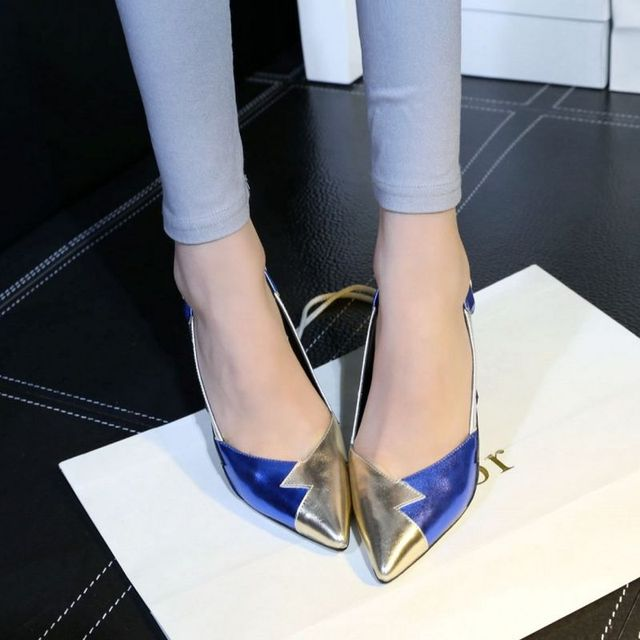 ladies real genuine leather high heel shoes women brand sexy pointed toe heels print brand pumps heeled shoes size 34-39 R08334