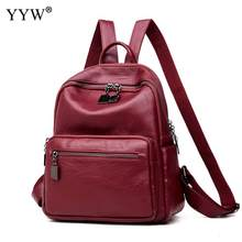 ae293d3e87e6 PU Leather Laptop Backpack Women Small Exquisite Travel Backpacks Notebook  College School Back Bags For Teenager