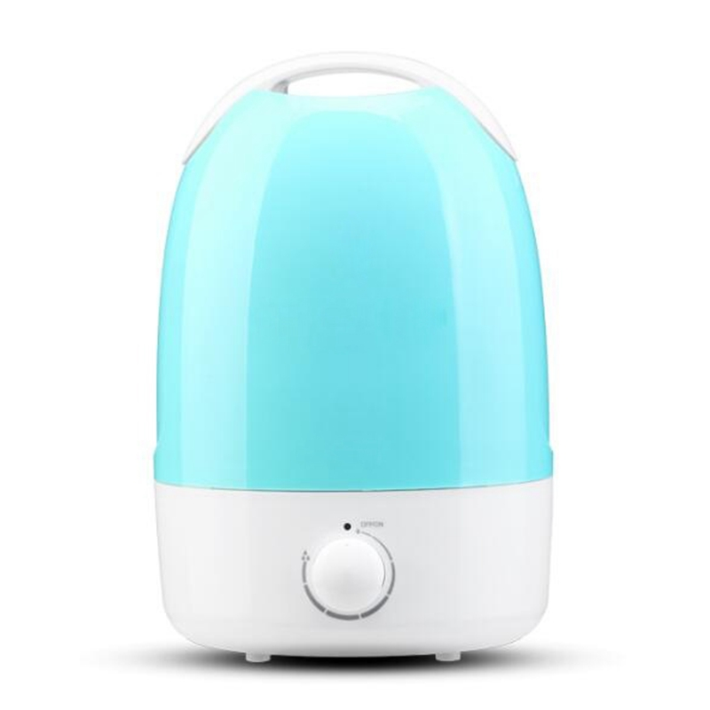 3.5L Sea Blue Air Humidifier With Rotary Switch Control Ultrasonic Mist Maker With Adjustable Mist Amount