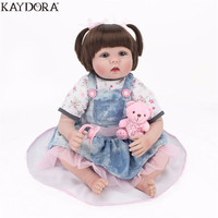 KAYDORA Silicone Reborn Dolls Babies Lifelike Reborn Baby 22 Inch Wholesale Bathable Reborn Doll Toys For Girls Bebe Reborn