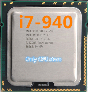 Core i7 940 2.93GHz 8M SLBCK Quad Core Eight threads desktop processors Computer CPU Socket 1366 scrattered pieces
