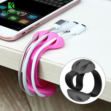 FLOVEME Cable Winder Holder Clip USB Cable Organizer For iPhone Wire Cord Management USB Cable Plug