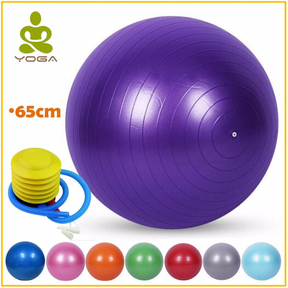 Ingenious Hiah Quality Explosion-proof 65cm Yoga Balls Bola Pilates Massage Fitness Gym Balance Fitball Exercise Pilates Workout With Pump Relieving Heat And Thirst.