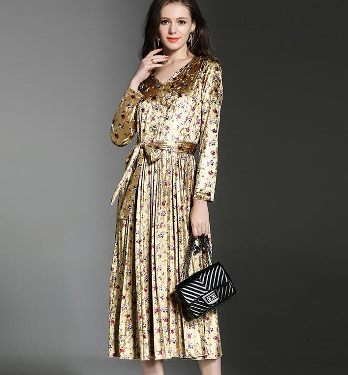 Buy winter velvet flowers women dress and get free shipping on  AliExpress.com a54688fc6588