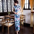 Chinese Women's Satin Cheongsam Qipao Evening Dress Women Oriental Traditional Chinese Dress S M L XL XXL XXXL