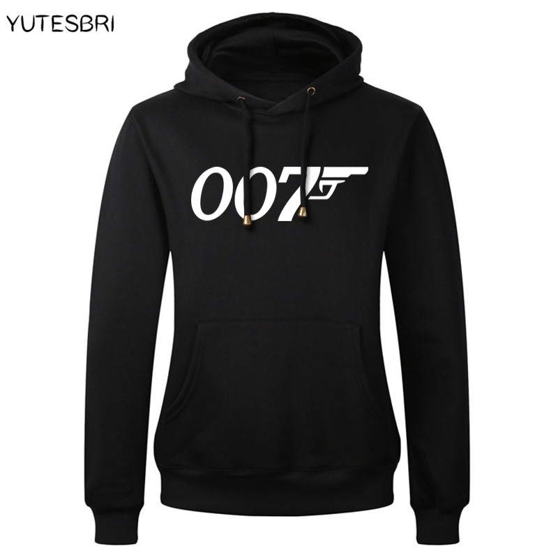 Winter Movie film James bond 007 hoodie sweatshirt brand-clothing thick cotton Pullover hoodies men fashion letters swearshirt ...