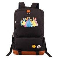 Cartoon Sleeping Beauty Princess Boy Girl School bag Women Bagpack Teenagers Schoolbags Canvas Men Student Backpack Packsack