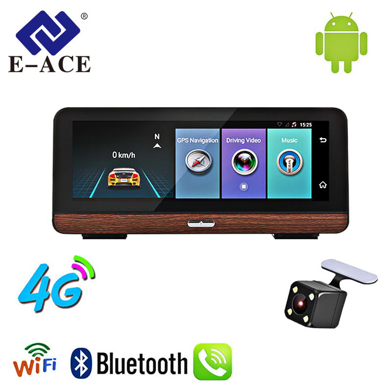 E-ACE Tracker Video-Recorder Navigation Rear-View-Camera Car Gps Android 8inch With 4G
