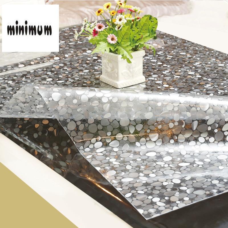 Patrón de piedra PVC mantel impermeable plástico anti-caliente mesa ...